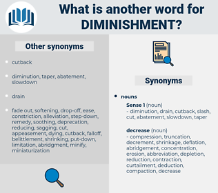 Diminishment, synonym Diminishment, another word for Diminishment, words like Diminishment, thesaurus Diminishment