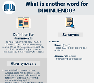 diminuendo, synonym diminuendo, another word for diminuendo, words like diminuendo, thesaurus diminuendo