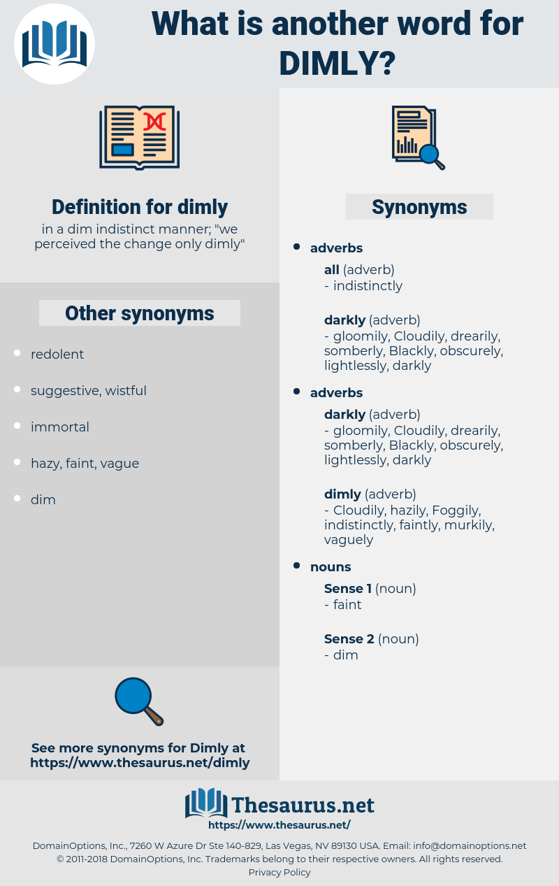 dimly, synonym dimly, another word for dimly, words like dimly, thesaurus dimly