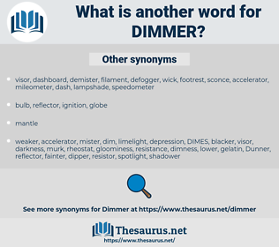dimmer, synonym dimmer, another word for dimmer, words like dimmer, thesaurus dimmer