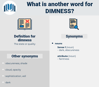 dimness, synonym dimness, another word for dimness, words like dimness, thesaurus dimness