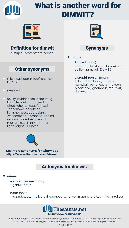 dimwit, synonym dimwit, another word for dimwit, words like dimwit, thesaurus dimwit