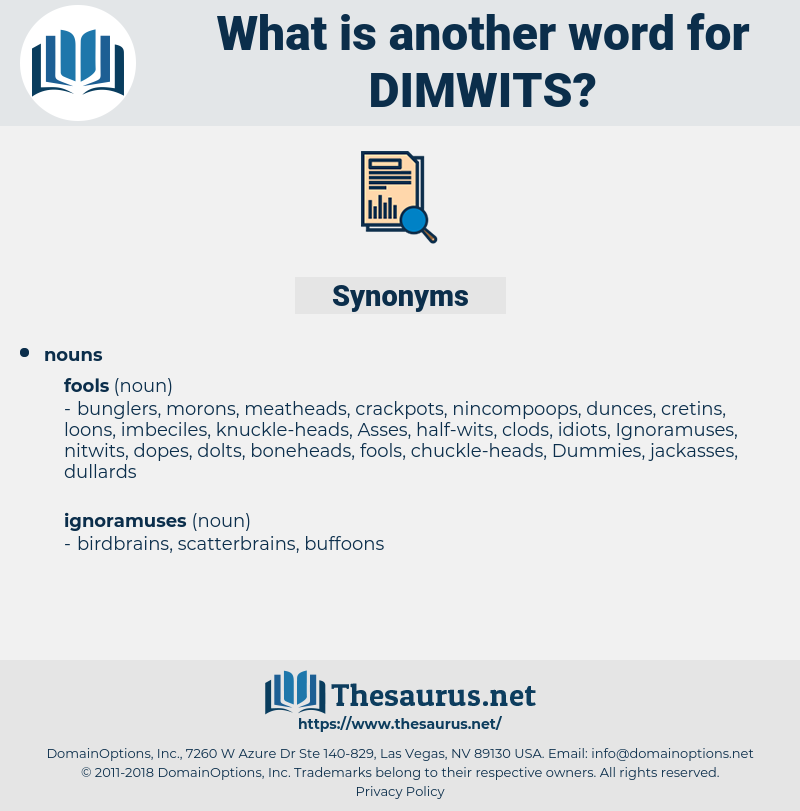 dimwits, synonym dimwits, another word for dimwits, words like dimwits, thesaurus dimwits