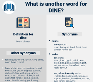 dine, synonym dine, another word for dine, words like dine, thesaurus dine