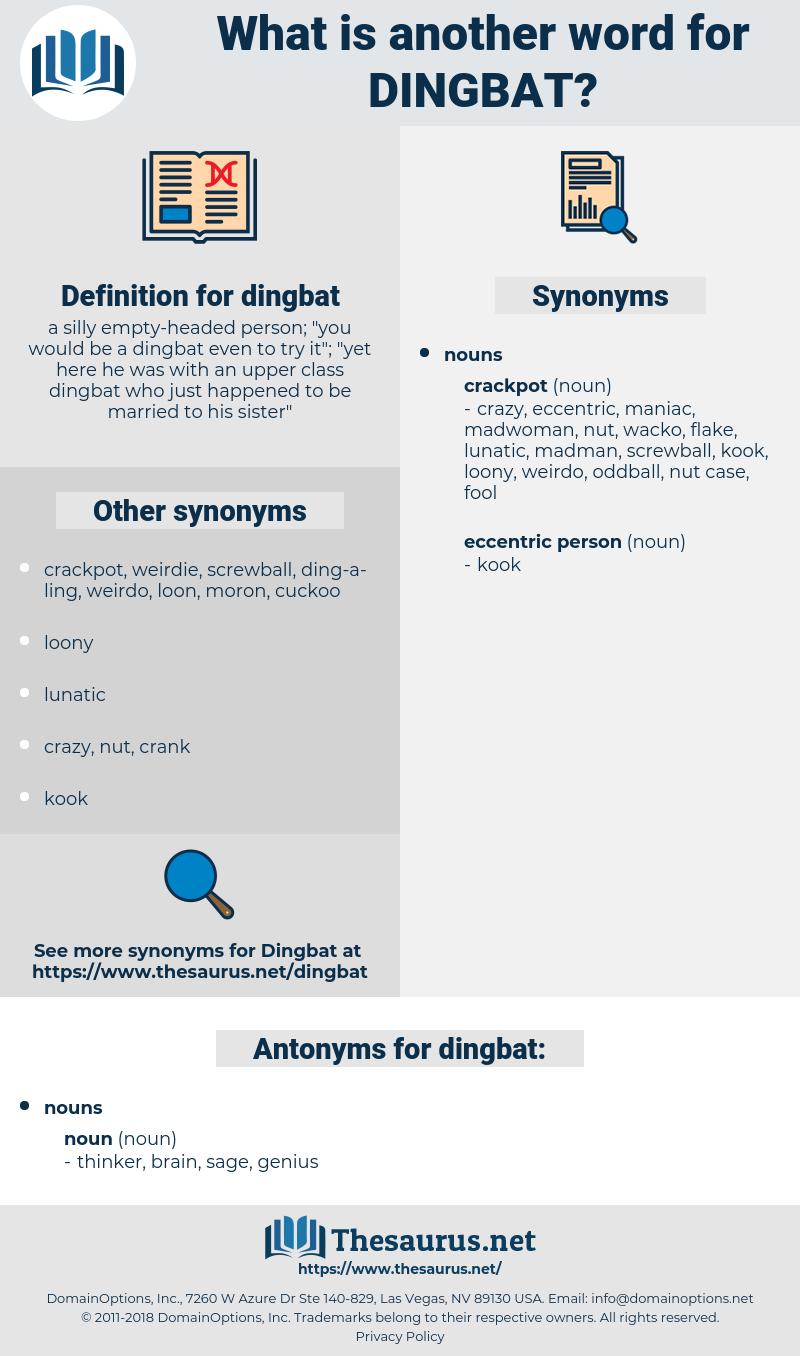 dingbat, synonym dingbat, another word for dingbat, words like dingbat, thesaurus dingbat