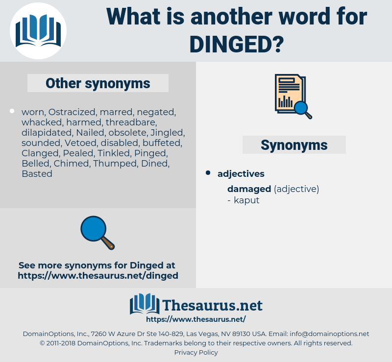 Dinged, synonym Dinged, another word for Dinged, words like Dinged, thesaurus Dinged