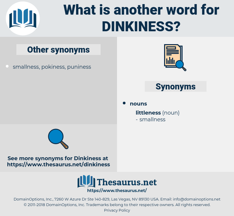 dinkiness, synonym dinkiness, another word for dinkiness, words like dinkiness, thesaurus dinkiness