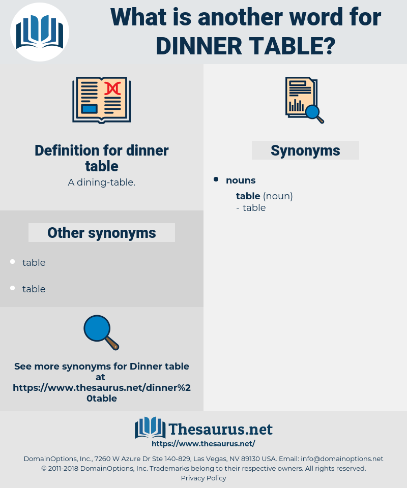 dinner table, synonym dinner table, another word for dinner table, words like dinner table, thesaurus dinner table