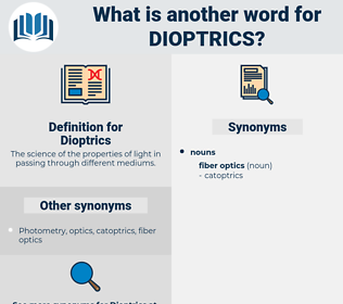 Dioptrics, synonym Dioptrics, another word for Dioptrics, words like Dioptrics, thesaurus Dioptrics