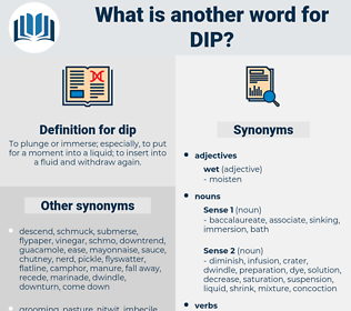 dip, synonym dip, another word for dip, words like dip, thesaurus dip
