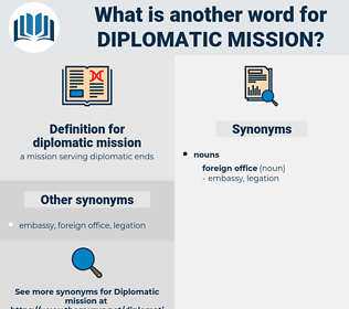 diplomatic mission, synonym diplomatic mission, another word for diplomatic mission, words like diplomatic mission, thesaurus diplomatic mission