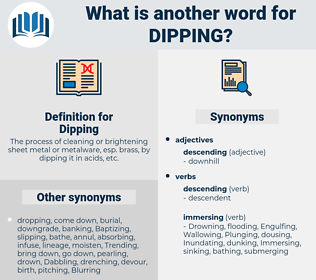 Dipping, synonym Dipping, another word for Dipping, words like Dipping, thesaurus Dipping