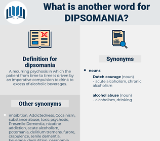 dipsomania, synonym dipsomania, another word for dipsomania, words like dipsomania, thesaurus dipsomania