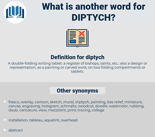 diptych, synonym diptych, another word for diptych, words like diptych, thesaurus diptych