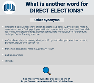 direct elections, synonym direct elections, another word for direct elections, words like direct elections, thesaurus direct elections