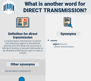 direct transmission, synonym direct transmission, another word for direct transmission, words like direct transmission, thesaurus direct transmission