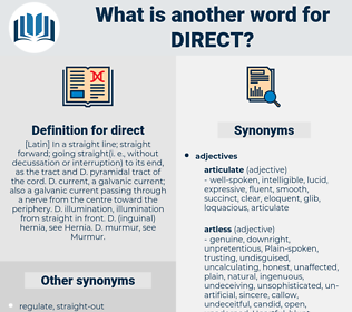 direct, synonym direct, another word for direct, words like direct, thesaurus direct
