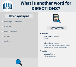 directions, synonym directions, another word for directions, words like directions, thesaurus directions