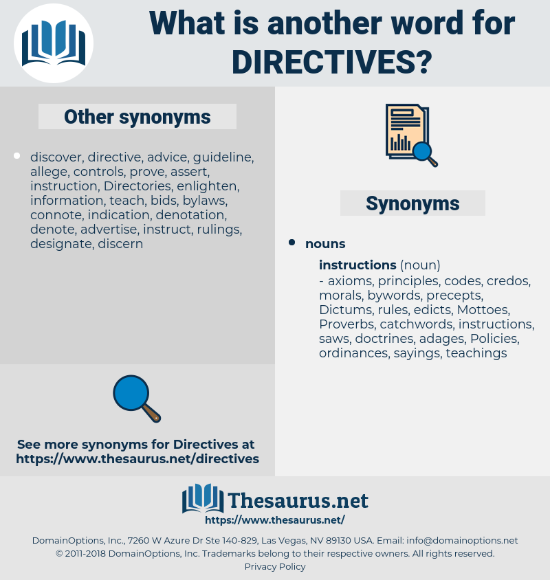 directives, synonym directives, another word for directives, words like directives, thesaurus directives