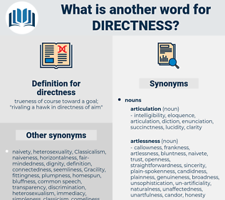 directness, synonym directness, another word for directness, words like directness, thesaurus directness