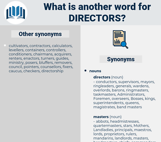 directors, synonym directors, another word for directors, words like directors, thesaurus directors