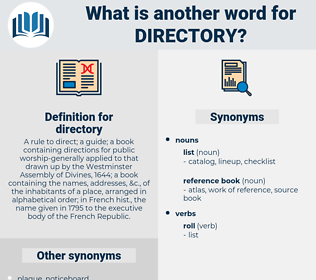 directory, synonym directory, another word for directory, words like directory, thesaurus directory