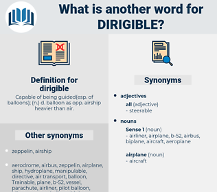 dirigible, synonym dirigible, another word for dirigible, words like dirigible, thesaurus dirigible