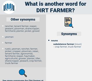 dirt farmer, synonym dirt farmer, another word for dirt farmer, words like dirt farmer, thesaurus dirt farmer