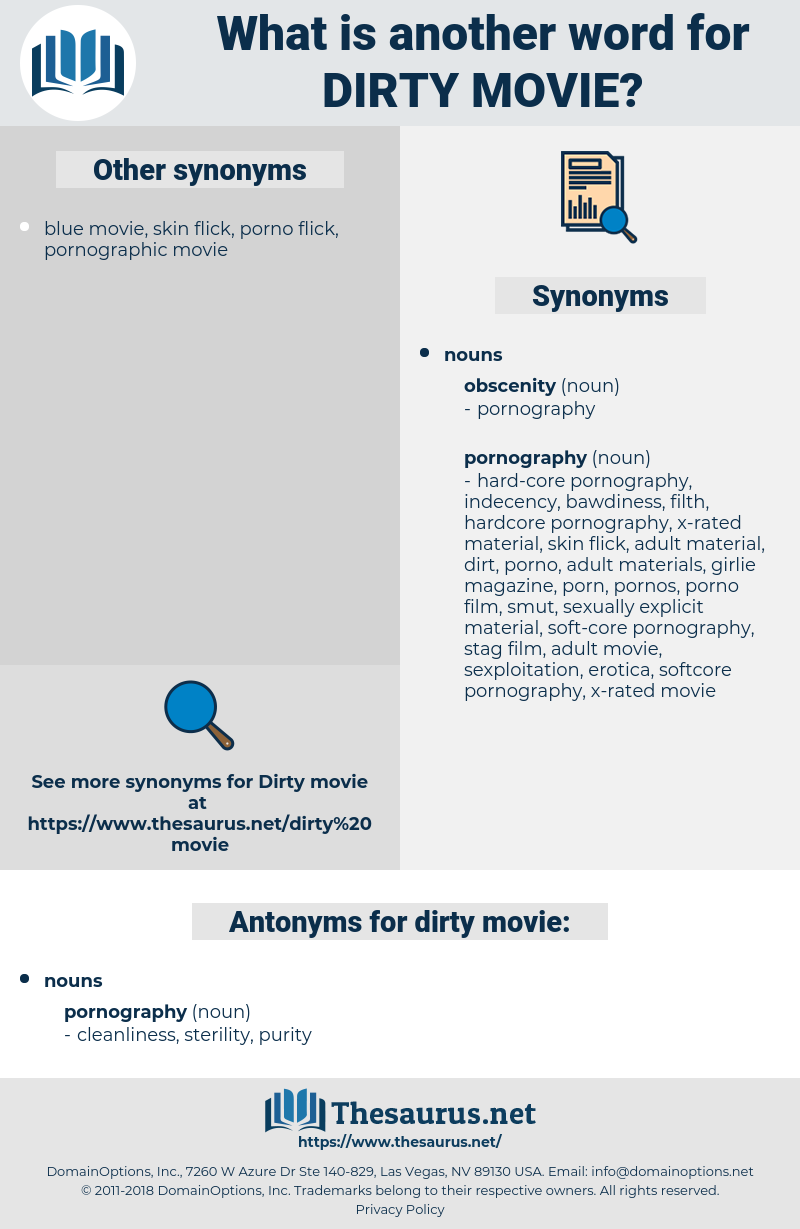 dirty movie, synonym dirty movie, another word for dirty movie, words like dirty movie, thesaurus dirty movie