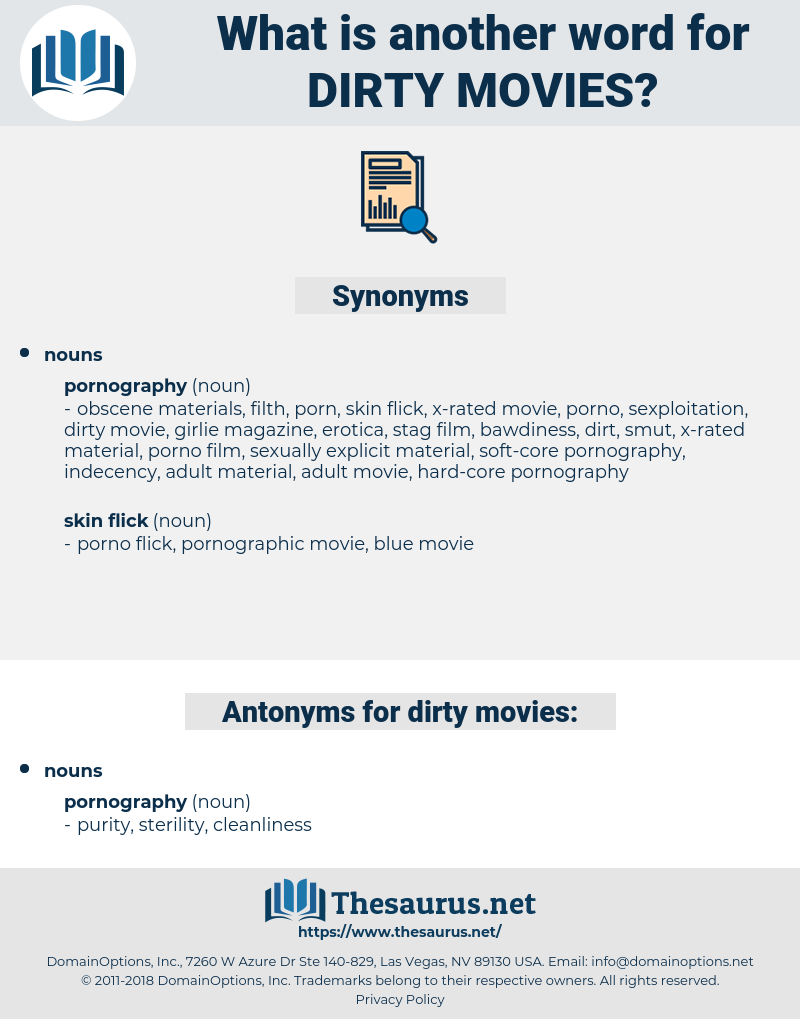 dirty movies, synonym dirty movies, another word for dirty movies, words like dirty movies, thesaurus dirty movies