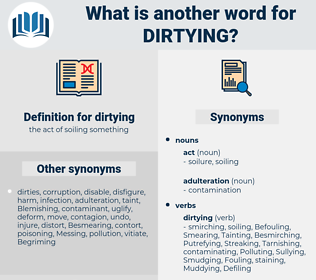 dirtying, synonym dirtying, another word for dirtying, words like dirtying, thesaurus dirtying