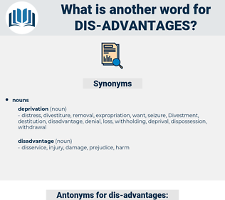 dis-advantages, synonym dis-advantages, another word for dis-advantages, words like dis-advantages, thesaurus dis-advantages