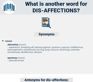 dis-affections, synonym dis-affections, another word for dis-affections, words like dis-affections, thesaurus dis-affections