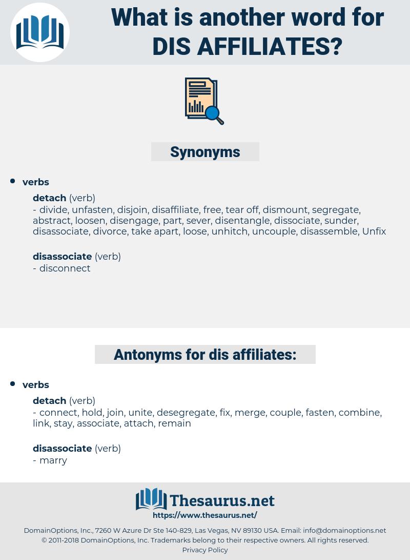 dis affiliates, synonym dis affiliates, another word for dis affiliates, words like dis affiliates, thesaurus dis affiliates
