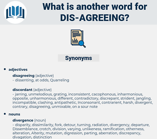 dis agreeing, synonym dis agreeing, another word for dis agreeing, words like dis agreeing, thesaurus dis agreeing