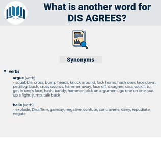 dis agrees, synonym dis agrees, another word for dis agrees, words like dis agrees, thesaurus dis agrees