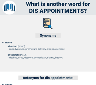 dis-appointments, synonym dis-appointments, another word for dis-appointments, words like dis-appointments, thesaurus dis-appointments