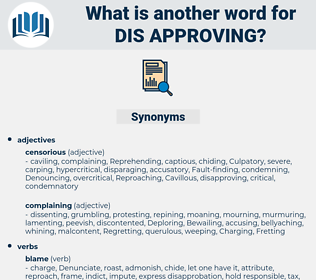 dis approving, synonym dis approving, another word for dis approving, words like dis approving, thesaurus dis approving