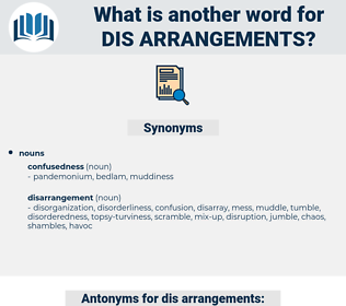 dis-arrangements, synonym dis-arrangements, another word for dis-arrangements, words like dis-arrangements, thesaurus dis-arrangements