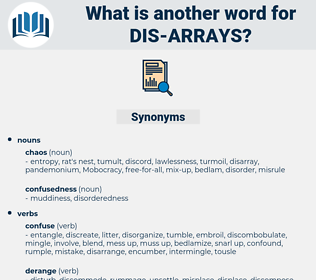 dis arrays, synonym dis arrays, another word for dis arrays, words like dis arrays, thesaurus dis arrays