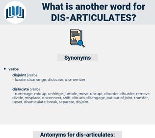 dis articulates, synonym dis articulates, another word for dis articulates, words like dis articulates, thesaurus dis articulates