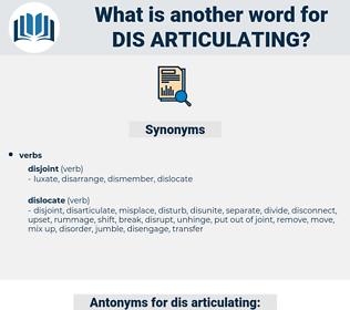 dis-articulating, synonym dis-articulating, another word for dis-articulating, words like dis-articulating, thesaurus dis-articulating