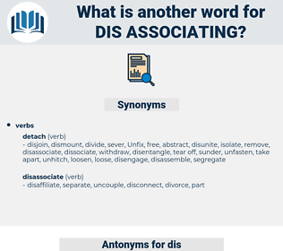 dis-associating, synonym dis-associating, another word for dis-associating, words like dis-associating, thesaurus dis-associating