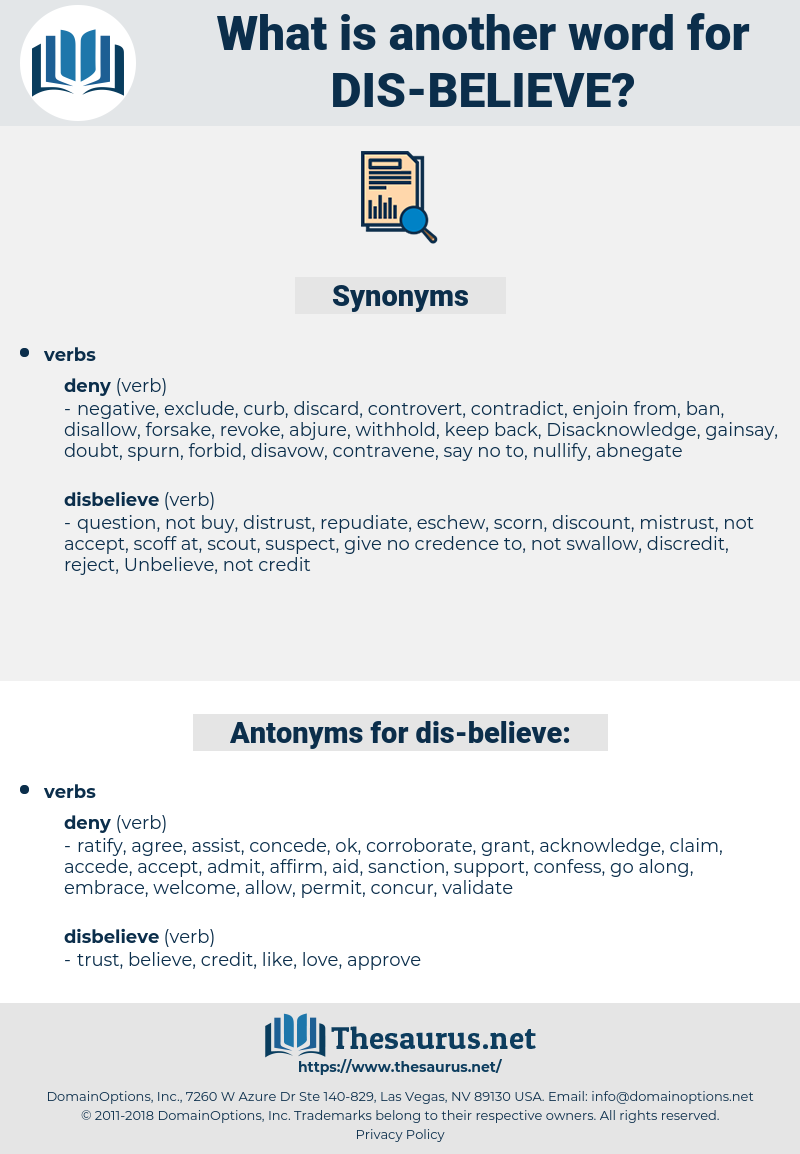 dis believe, synonym dis believe, another word for dis believe, words like dis believe, thesaurus dis believe
