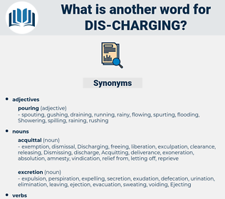 dis-charging, synonym dis-charging, another word for dis-charging, words like dis-charging, thesaurus dis-charging