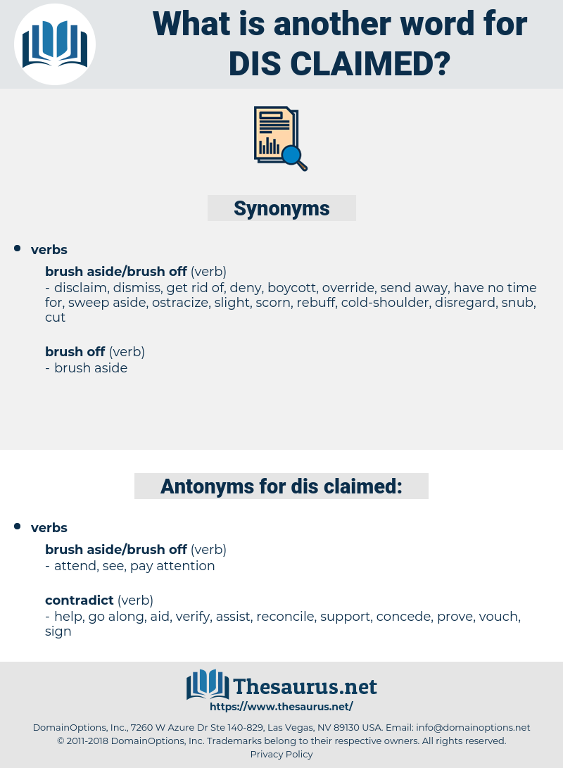 dis-claimed, synonym dis-claimed, another word for dis-claimed, words like dis-claimed, thesaurus dis-claimed