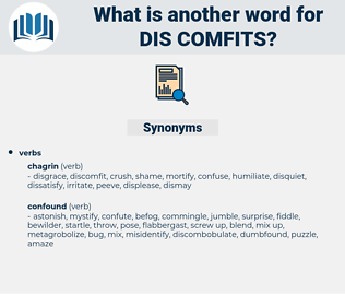 dis-comfits, synonym dis-comfits, another word for dis-comfits, words like dis-comfits, thesaurus dis-comfits