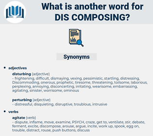dis-composing, synonym dis-composing, another word for dis-composing, words like dis-composing, thesaurus dis-composing