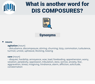 dis-composures, synonym dis-composures, another word for dis-composures, words like dis-composures, thesaurus dis-composures