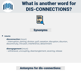 dis-connections, synonym dis-connections, another word for dis-connections, words like dis-connections, thesaurus dis-connections